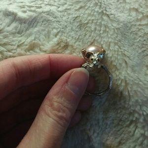Artisan Pink Pearl Critter Ring
